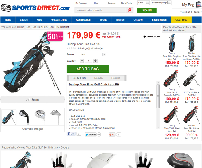 Crose golf sportsdirect.com